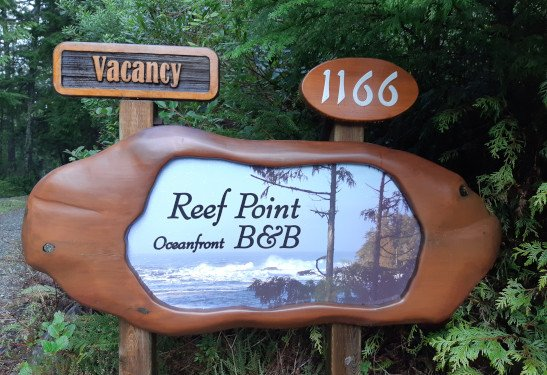 Reef Point BB Driveway Signage