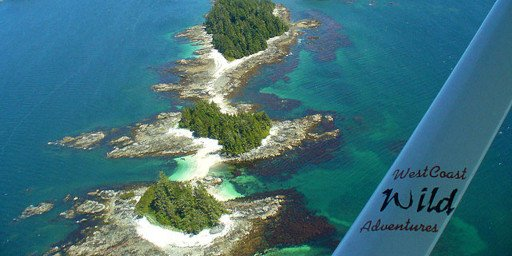 Reef Point Oceanfront BB Broken Islands from West Coast Wild Flightseeing