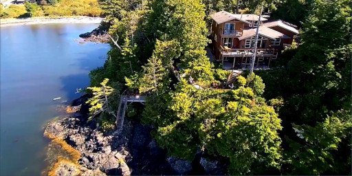 Reef Point Oceanfront B&B Drone Shot View